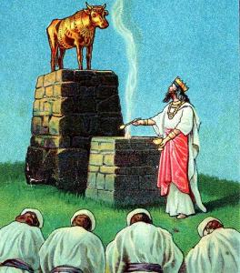 Jeroboam and the golden calf