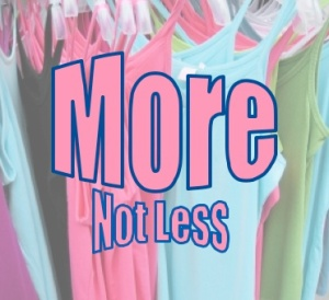 More Not Less