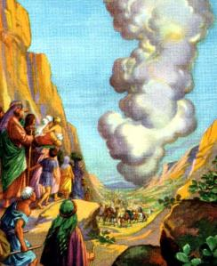 Israel led by pillar of clouds