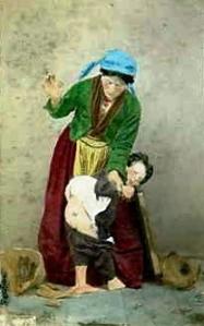 spanking painting Conrad,_Giorgio_(1827-1889)