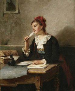 writing in diary August_Müller_Tagebucheintrag